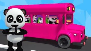 Bánh xe trên xe buýt | Bé Bao Panda | bài hát cho trẻ em | Rhyme For Kids | Wheels on the Bus