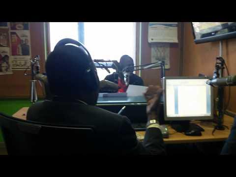 Famous Actor Oliver Litondo In The Radio Jambo Studio