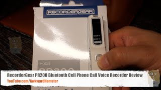 RecorderGear PR200 Bluetooth Cell Phone Call Voice Recorder Review