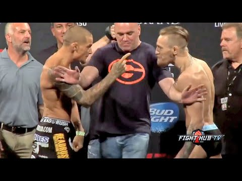 UFC 178  Conor McGregor vs Dustin Poirier HEATED weigh in  face off video