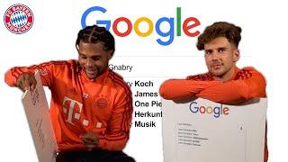 Why does Gnabry love One Piece? | Google Autocomplete Challenge w/ Goretzka & Gnabry feat. Bellerín