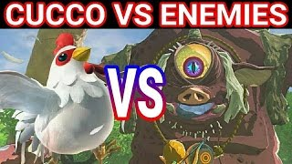 CUCCO VS ENEMIES & BOSSES - The Legend of Zelda Breath Of The Wild