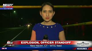 BREAKING: Explosion, officer standoff in North Haven, CT (FNN)