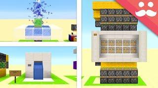 10 PRETTY REDSTONE Builds in Minecraft!