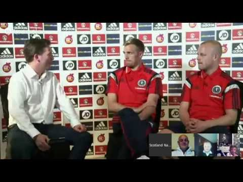 Google+ Hangout with Darren Fletcher and Steven Naismith
