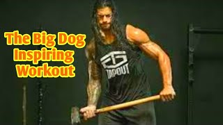 WWE Monday night raw. Roman regins inspiring workout