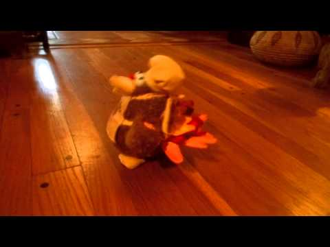 Animated Dandee Singing Dancing Plush Turkey Eat More Chicken W Apron Chef's Hat Chicken Dance video