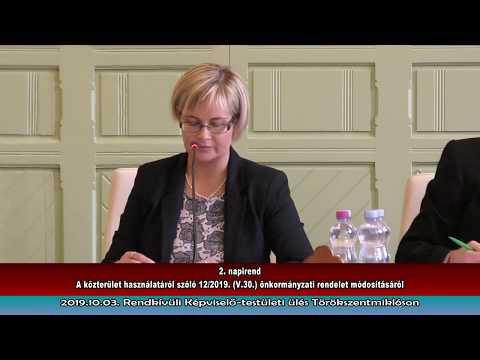 2019.10.03. Rendkívüli Képviselő testületi ülés Törökszentmiklóson
