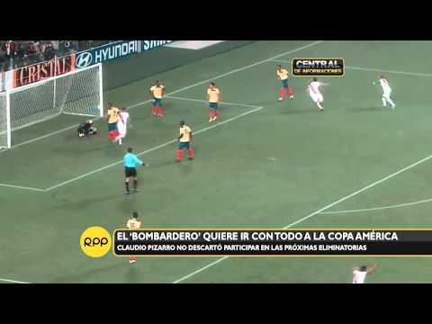Claudio Pizarro pone en su mira la Copa América Chile 2015