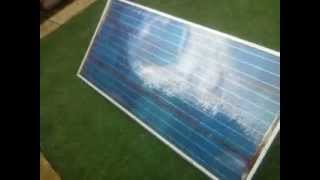 2013 my DIY 144w solar panel. out for weather test. all went as well as could hope.