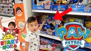 TOY SHOPPING At Target! SEARCHING For 'RYAN TOYREVIEW' Toys & PAW PATROL!