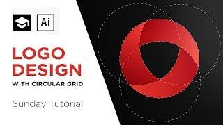 How to design a logo with a circular grid | Adobe Illustrator Tutorial
