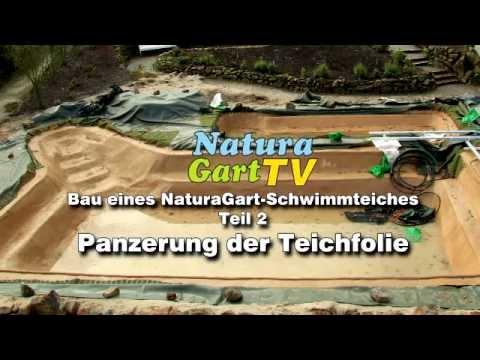 Schwimmteichbau - Teil 2: Teichfolie Schützen Und Natürliche Optik Am Teichgrund