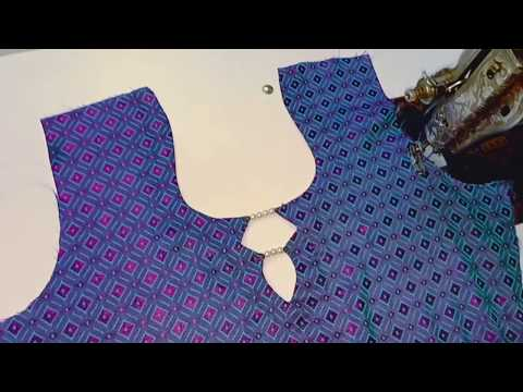 Very beautiful kurti neck design making/ very easy for beginners