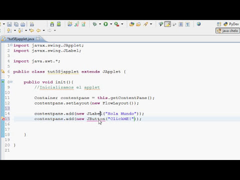 Tutorial Programacion Java 58: Applet
