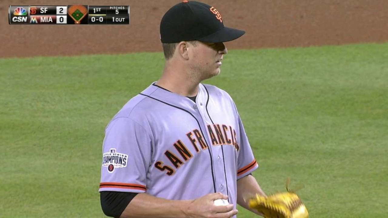 SF@MIA: Cain retires Gordon in his 2015 debut