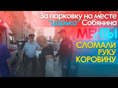 За парковку на месте царька Собянина полицейские сломали руку Коровину