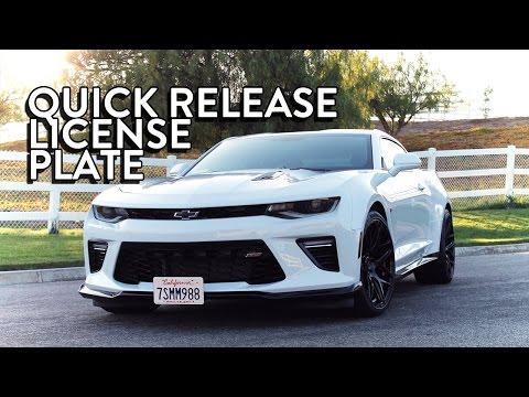 Guide: Detachable Front License Plate Bracket - 2016 Camaro w/ GM