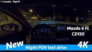 Mazda 6 CD150 Revolution 2019 - night POV drive in 4K | Impressive main LED headlights!