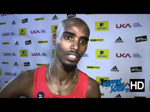 Nuffin'Long TV (Aviva Indoor GP Birmingham) - Post Race Interview with Mo Farah(HD)