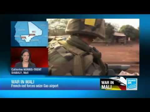 Malian and French troops seize Gao airport