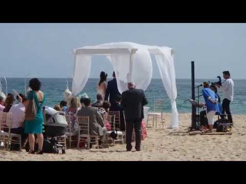 Wedding at the Porto de Mos beach (Lagos, Portugal). Nice song...