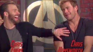 Chris Evans & Chris Hemsworth Funny Moments (2015)