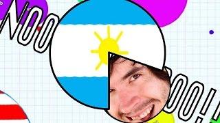 ARGENTINA ME QUIERE COMER!!   Agar.io - JuegaGerman