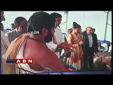 Minister Nara Lokesh performs Bhumi Puja for HCL Campus in Vijayawada