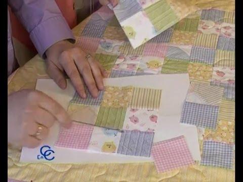 Retales o patchwork como hacer una colcha cojines o mantas youtube - Como hacer mantas de punto ...