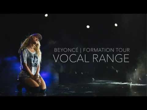 Beyoncé | Formation World Tour - Vocal Range in 30 Seconds (C3-C6)
