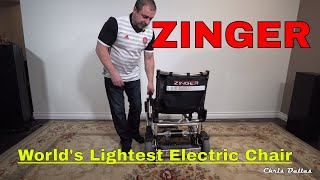 Zinger Folding Electric Mobility Chair - World's Lightest in 4K Sony a6500 & a 10-18mm OSS