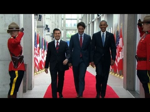 Trudeau receives Nieto and Obama for Three Amigos summit