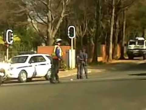 Barack Obama Motorcade in Johannesburg South Africa