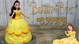 Beauty and the Beast Belle Doll Cake
