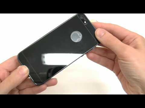 Pellicola VETRO FULL BODY retro colorato specchio+display trasparente per iPhone 5 6 Plus