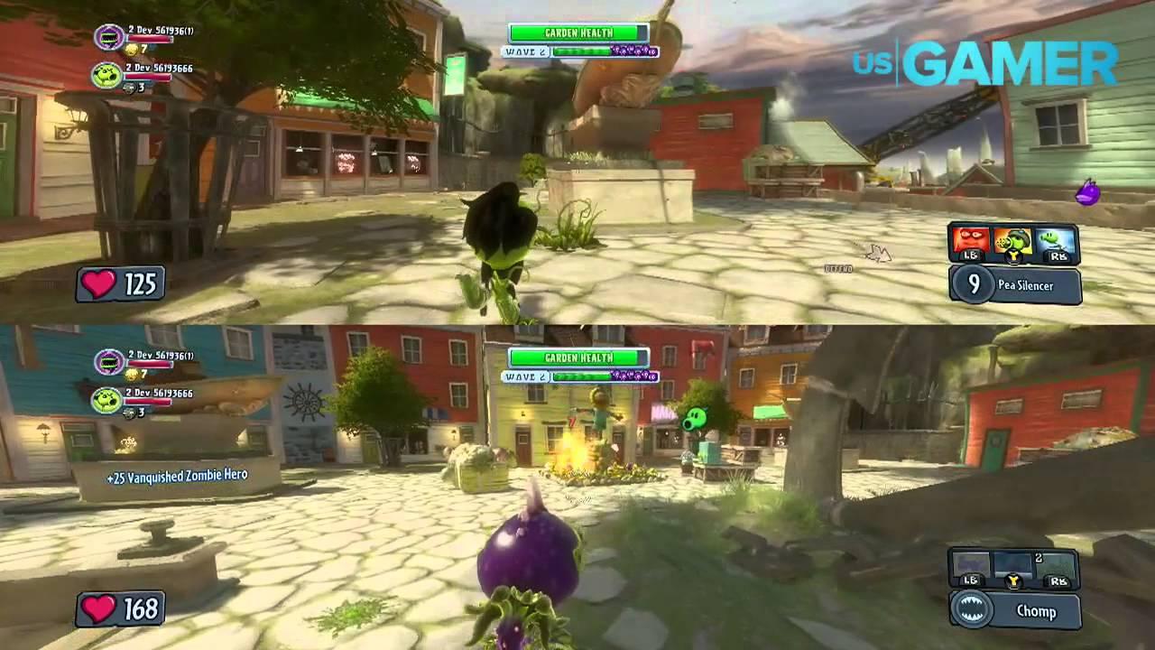 Usgamer Plants Vs Zombies Garden Warfare Hands On Split Screen Defense Tactics Youtube
