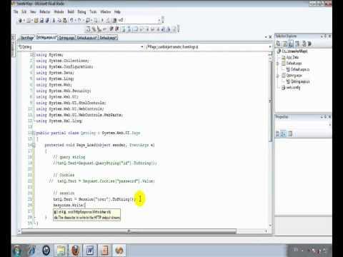 Session in asp.net  برمجة السشن
