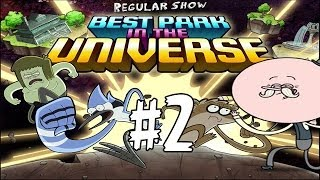 Best Park In The Universe - Regular Show - The Park Level 2 - Walkthrough (Pops & Mordecai) HD