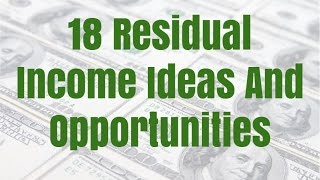 18 Residual Income Ideas And Opportunities
