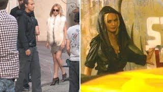 Lindsay Lohan Filming Music Video For Rock Band MIGGS [2011]
