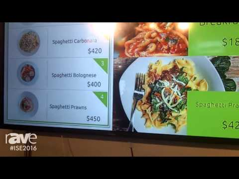 ISE 2016: RapidSignage Presents Digital Menu Board Solution