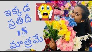 ఇక్కడ ప్రతిదీ కేవలం 1$ మాత్రమే || Dollar Tree || Kalyani Boppa || USA || Americalo Ammakutti