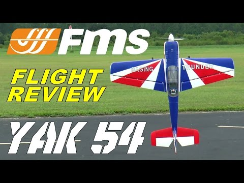 FMS / Diamond Hobby YAK54 1300mm Flight Review By: RCINFORMER
