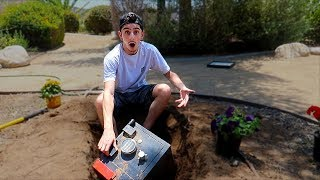 We Found a SECRET SAFE BURIED in our BACKYARD... (What's inside?)