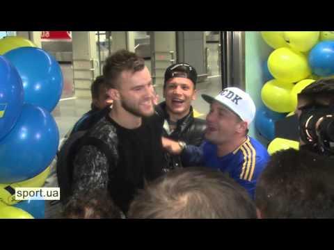 Встреча сборной Украины после матча со Словенией