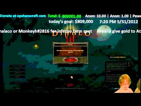 [Diablo 3] Athene gives password to 10,000+ fans! PRICELESS FACE!
