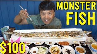 $100 MONSTER Korean Grilled Fish in Jeju Island South Korea