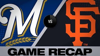 Thames, Aguilar homer in win over Giants | Brewers-Giants Game Highlights 6/16/19