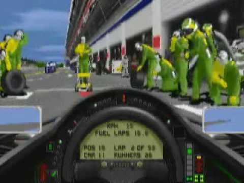 Watch a pitstop in the Racing Sim Formula One Grand Prix 2.